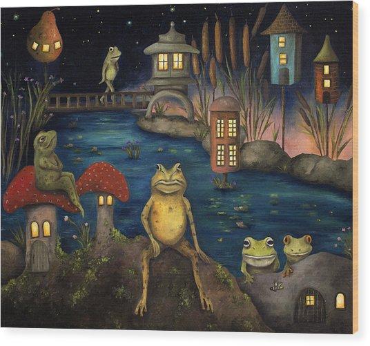 Frogland Wood Print