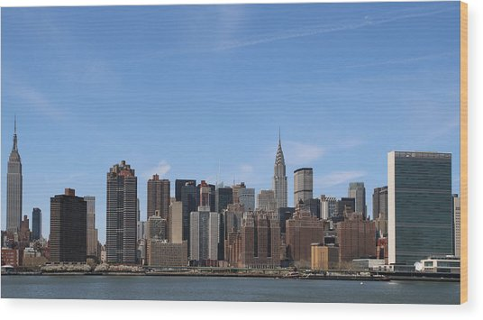 From The Empire State To The Un Wood Print
