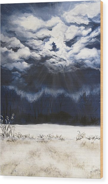 From The Midnight Sky Wood Print