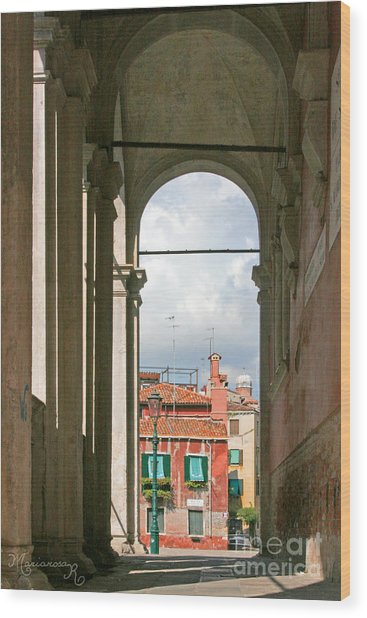 From The Scuola Di S. Rocco Wood Print by Mariarosa Rockefeller