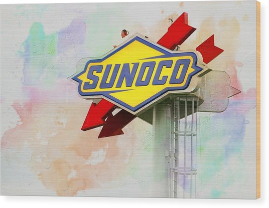 From The Sunoco Roost Wood Print