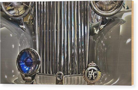 Front Detail 1947 Jaguar Wood Print