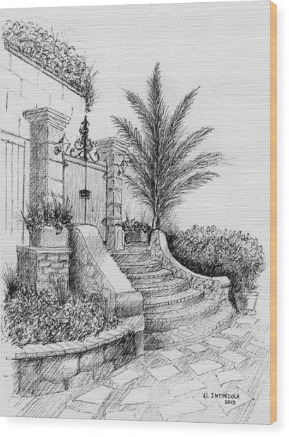 Front Gate Wood Print