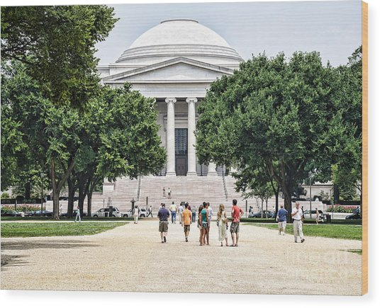 Front Of The National Gallery Of Art In Washington Dc Wood Print by William Kuta