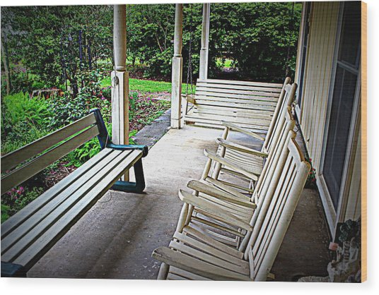 Front Porch Wood Print