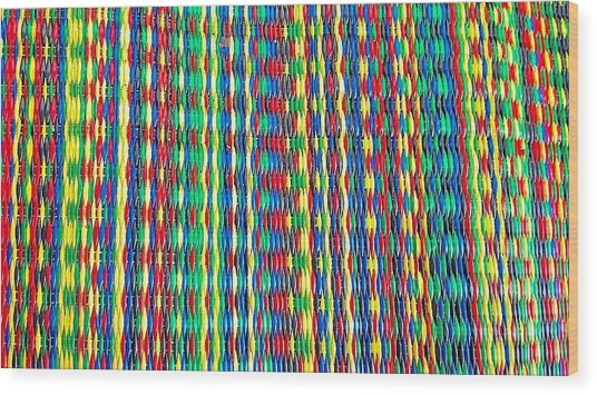 Front Porch Rug Wood Print by Larry Bodinson