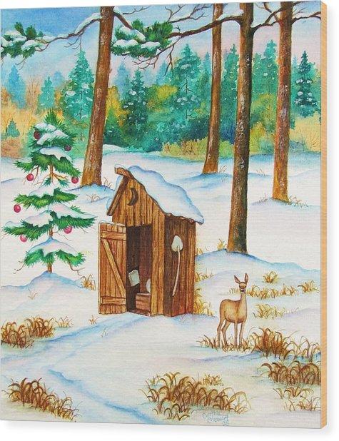 Frosty Morning Walk Wood Print by Cynthia Stewart