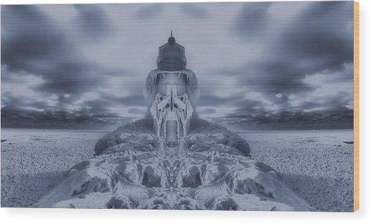 Frozen Dream On The Coast Wood Print