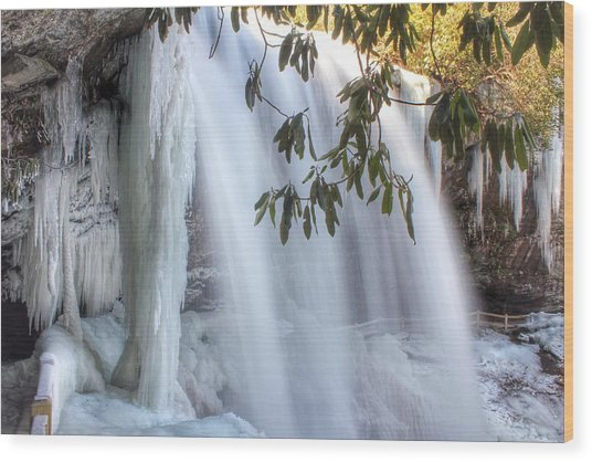 Frozen Dry Falls Wood Print