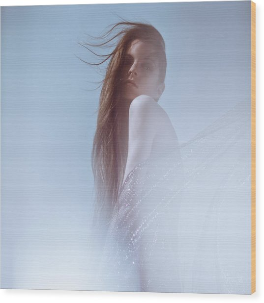 Frozen Wood Print by Eugenia Kirikova