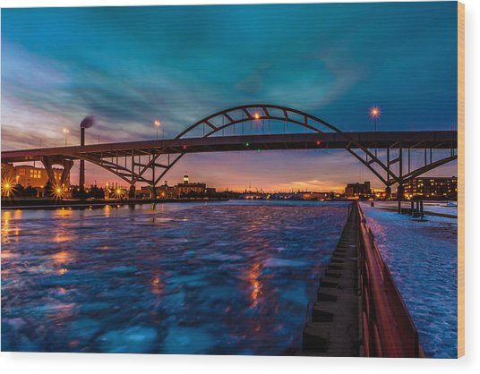 Frozen Hoan Bridge Wood Print