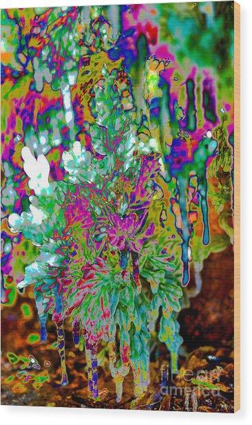 Wood Print featuring the digital art Frozen Juniper by Mae Wertz