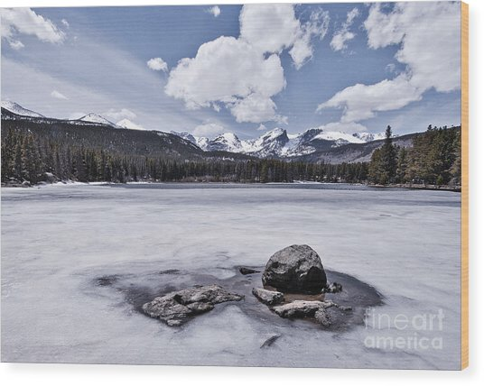 Wood Print featuring the photograph Frozen Lake by Mae Wertz
