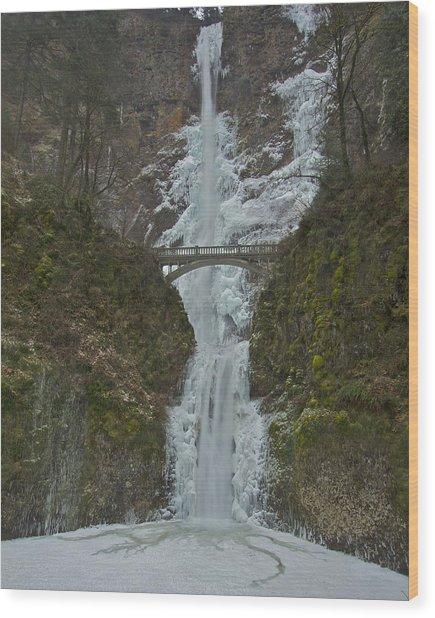 Frozen Multnomah Falls Ssa Wood Print