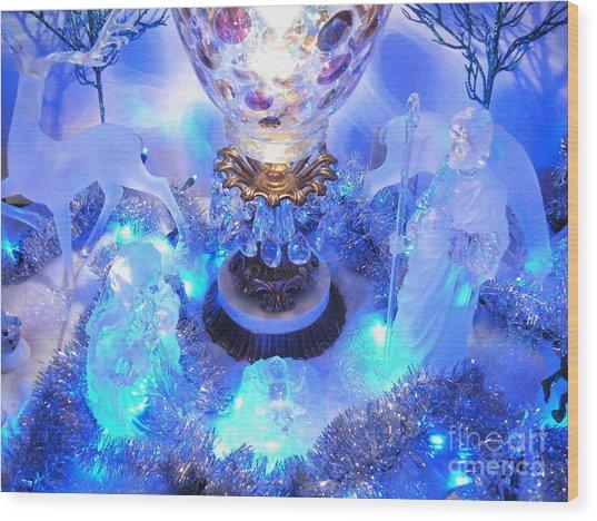 Frozen Nativity 2 Wood Print