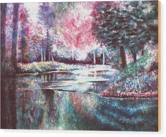 Frozen Pond Wood Print