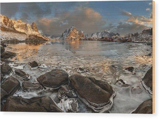 Frozen Reine Wood Print by Jan ?m?d Master