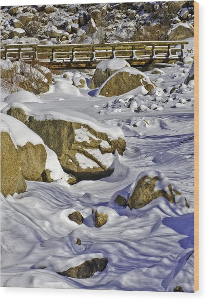 Frozen Roaring River Wood Print by Tom Wilbert