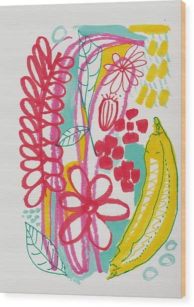 Fruit Abstract Wood Print