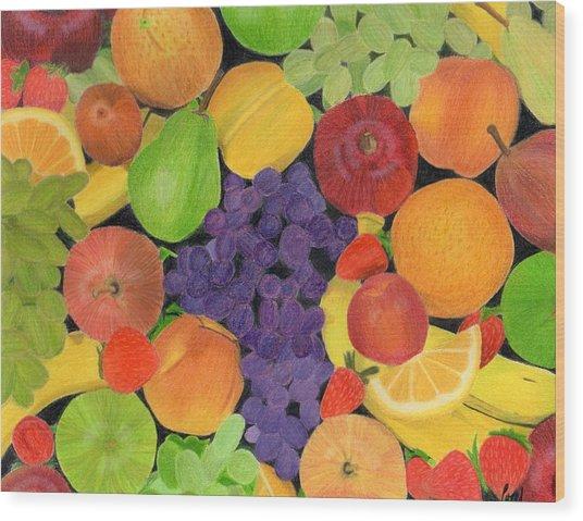 Fruit Wood Print by Bav Patel