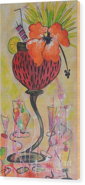 Fruit Cocktail Anyone Wood Print