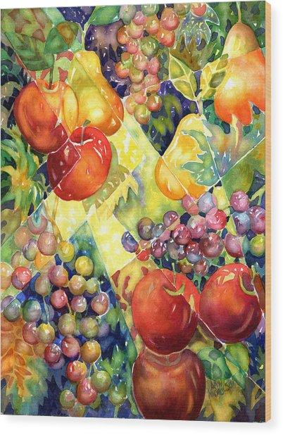 Fruit Fantasy Wood Print
