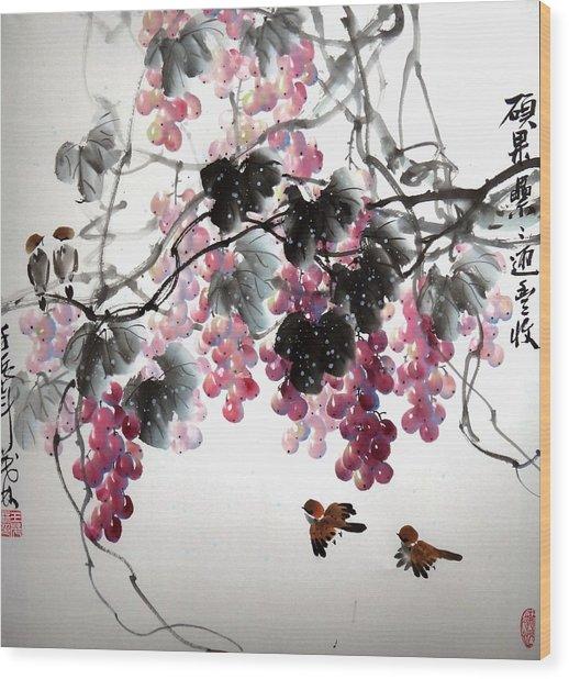 Fruitfull Size 3 Wood Print by Mao Lin Wang