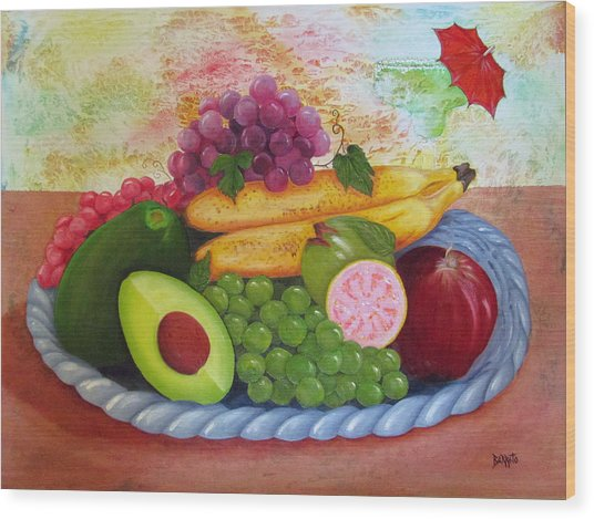 Fruits Delight Wood Print