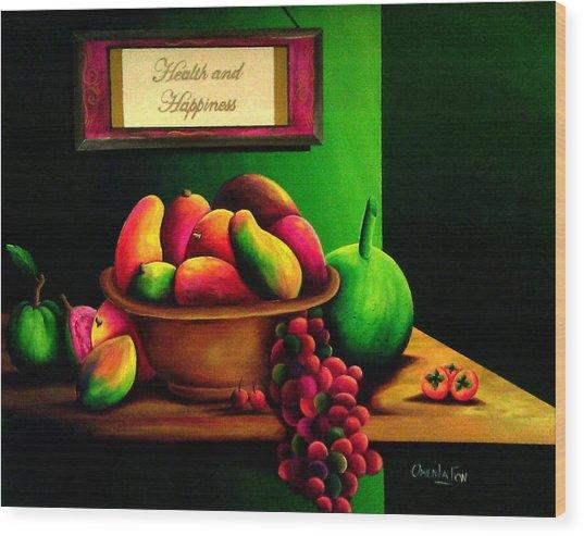 Fruits Still Life Wood Print