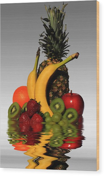 Fruity Reflections - Light Wood Print