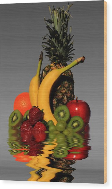 Fruity Reflections - Medium Wood Print