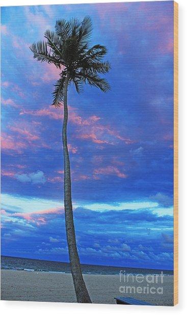 Ft Lauderdale Palm Wood Print