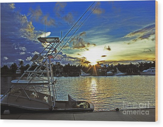 Ft. Lauderdale Sunset Wood Print