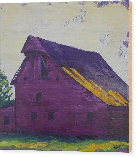 Fuchsia Barn Wood Print