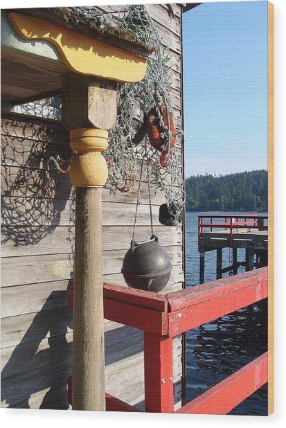 Fulford Harbour Wood Print
