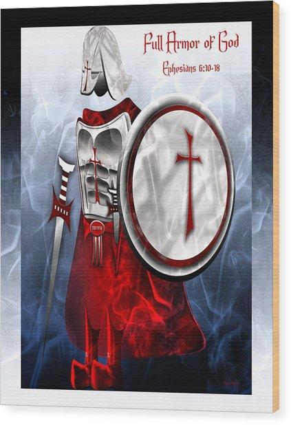 Full Armor Of God Wood Print