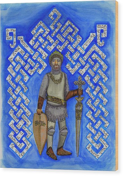 Full Armor Of Yhwh Man Wood Print