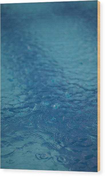 Full Frame Shot Of Swimming Pool Wood Print by Anselm Lier / EyeEm