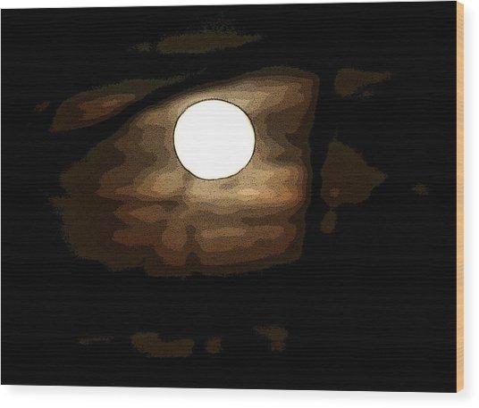 Full Moon Wood Print by Carolyn Reinhart