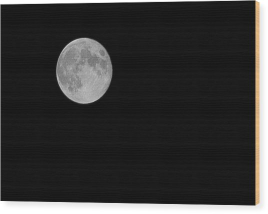 Full Moon Wood Print