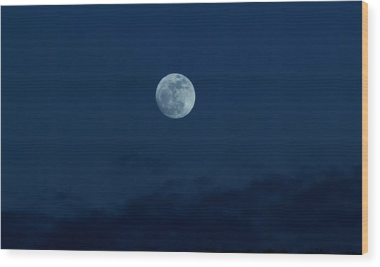 Full Moon Jan 2013 Wood Print