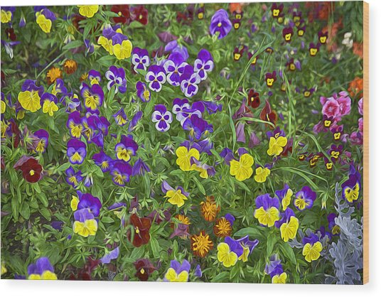 Full Of Flowers Wood Print