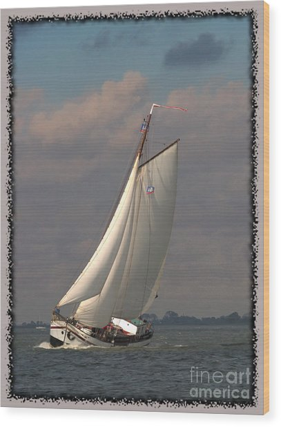 Wood Print featuring the photograph Full Sail by Luc Van de Steeg