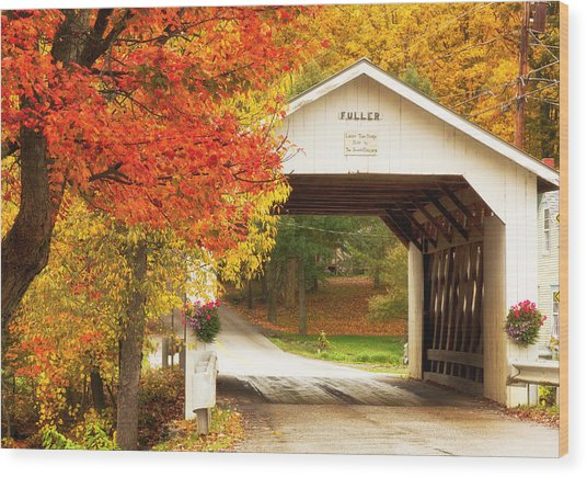 Fuller Covered Bridge Wood Print