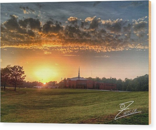 Fumc Sunset Wood Print