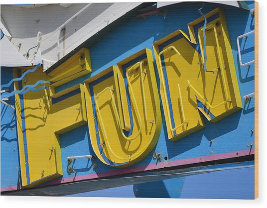 Fun In Seaside Heights Nj Wood Print