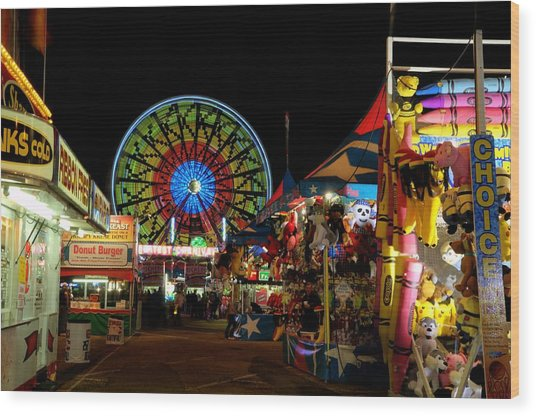 Fun Night At The Fair Wood Print