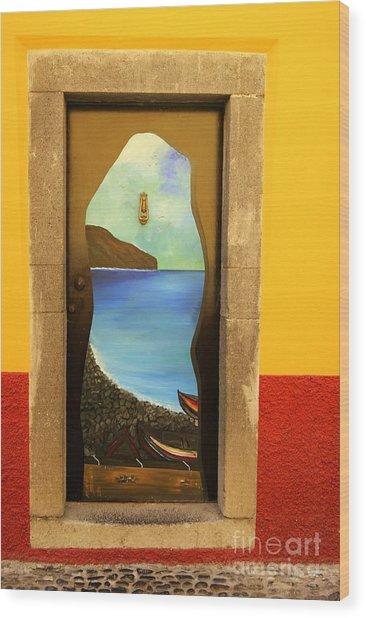 Funchal Door Art 4 Wood Print