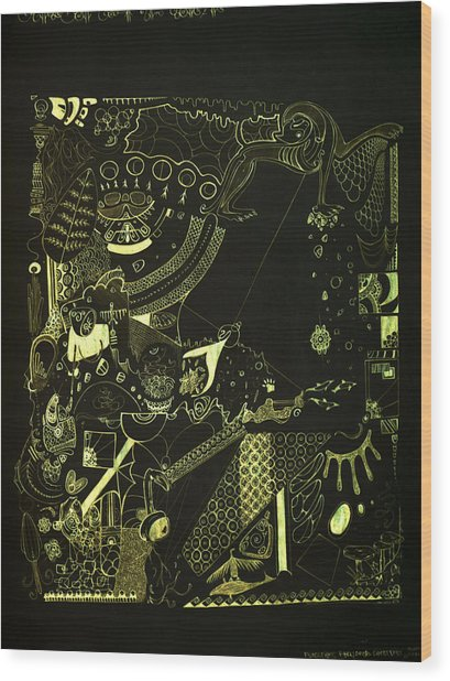 Function Form And Content Wood Print by Guillermo De Llera