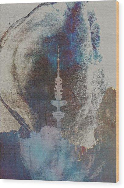 Funkturm Wood Print by Peter Norden